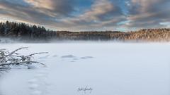 Romstjern (Bjørn Lundby) Tags: skyer snow winter ice nature tamronsp1024 clouds sky romstjern lake nittedal canoneos7dmarkii naturephotography