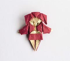 Kimono Girl (日輪富 Philogami) Tags: origami philogami chen xiao amazing kimono girl japanese washi paper folding art