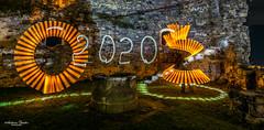 Happy New Year (AnBind) Tags: lightart lightpainting burgruinesenftenberg lightblade tube burgruine orte 2019 meinegegend senftenberg