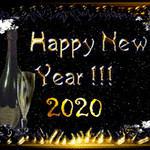 Happy New year greeting card for 2020, From FlickrPhotos