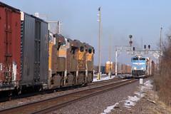 Chasing It Down (wras23) Tags: unionpacific up sd70ace 1982 missouripacificheritageunit mopac heritage mp signals train railroad dupo illinois