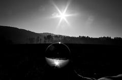 in the ball ... (ladic_1) Tags: sun magic ball pentax k20d bw black white photo czech