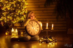 New Day, New Year, New Beginning. In 2020 Let's Start Making Your Dreams Come True. Happy New Year (Margarita K...) Tags: girl child childhood fairytales ngc light lights candle candles tales believeinmagic clock christmastree happynewyear christmaslights time nikon nikond750 d750 margaritakphotography mkphotography malgorzatakapustkaphotography