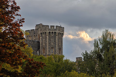 The Tower (meniscuslens) Tags: windsor castle berkshire sky clouds trees