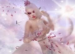 PETALS IN THE WIND (Rachel Swallows Inworld Elenamicheals Core) Tags: accessories bento blog elf fae fashion flowers gloves kinkyevent legacy makeup masoom rachelswallows secondlife theliaisoncollaborative zibska
