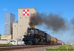 Union Pacific Big Boy 4014. Clarence, Iowa. (danieljg241) Tags: unionpacific unionpacificbigboy clarenceiowa unionpacific4014 up4014 bigboy canon77d iowa feedmill steamengine