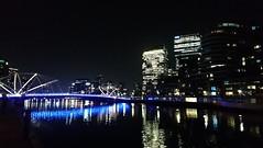 Yarra Pedestrian Bridge at night