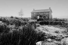 Ghost House (Frosty__Seafire) Tags: shroud ghost abandoned ghostly spooky dartmoor devon farm nuns cross south west landscape black white blackwhite monochrome d7000 sigma 1020