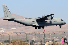 T.12-02_06 (GH@BHD) Tags: t2102 3540 casac295m casa c295 c295m spanishairforce arrecifeairport lanzarote ace gcrr arrecife turboprop propliner cargo freighter aircraft aviation military transporter transport airlifter