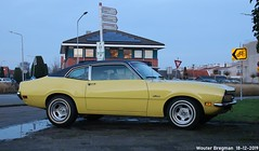 Ford Maverick 1970 (XBXG) Tags: 7774nm ford maverick 1970 fordmaverick yellow jaune nieuweweg wormer nederland holland netherlands paysbas vintage old classic american car auto automobile voiture ancienne américaine us usa vehicle outdoor