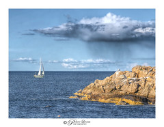 However sunny or stormy 2020 sails by, may it be gentle to you. (Pearce Levrais Photography) Tags: sail sailboat sailing ocean oceanscape rock stone bird seagull cliff island cloud rain sky storm sony a7r3 hdr ilc ilce7rm3 landscape outside outdoor nature