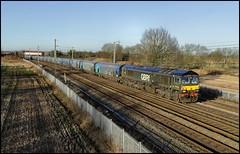 Winwick GBRf  66779 'Evening Star' 6E10 (11.08 Liverpool Biomass Term - Drax Aes) 31/12/19. (DigitAL46232) Tags: winwick gbrf 66779 eveningstar 6e10 biomass drax