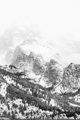 Grand Teton & Disappointment Peak, Grand Teton National Park. November, 2019. (Guillermo Esteves) Tags: landscapes fujifilm unitedstates blackandwhite grandtetonnationalpark moose wyoming grandteton nationalparks fujifilmxt3 disappointmentpeak unitedstatesofamerica
