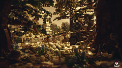 Battle Of Hürtgen Forest (Barthezz Brick) Tags: ww2 germany amerika lego jeep mg42 moc afol world war willy legos two battle forest forced perspective