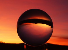New Year's Eve Sunset..x (Lisa@Lethen) Tags: newyearseve lensball sunset hogmanay sun set cloud weather