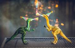 happy new year (auntneecey) Tags: happynewyear dinosaurs dinos nothingisordinary party toys 365the2019edition 3652019 day365365 31dec19