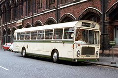 United Counties Omnibus Co . 281 TBD281G . St Pancras Road , King's Cross , London . September-1969 . (AndrewHA's) Tags: london bus kings cross united counties omnibus company bristol relh ecw 281 tbd281g dual purpose route 203 terminus dolly stop
