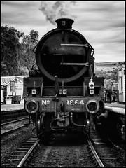 Ready For The Off! (Darren Wilkin) Tags: steamtrain steamengine northyorkshiremoorsrailway grosmont monochrome train track railway