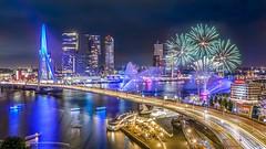 Happy 2020! (Ellen van den Doel) Tags: rotterdam inntelhotels city wereldhavendagen nederland night netherlands vuurwerk 2019 uitzicht stad firework view september erasmusbrug evening event inntel erasmugbridge
