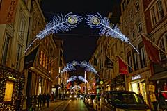 Sackville Street (Croydon Clicker) Tags: street london westminster piccadilly traffic vehicles cars people night nikon nikkor