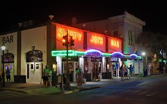 A Night In Key West (PelicanPete) Tags: keywest florida southflorida usa floridakeys sidewalk unitedstates streetlight sloppyjoesbar 11119 hemingwayshangout duvalstreet stage music people guitar iconic local bar foundeddec5th1933 papa ernesthemingway nationalregisterofhistoricplaces corner fridaynight streetphotography anightinkeywest