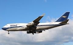 G-BYGC Boeing 747-436 British Airways - BOAC retro livery (R.K.C. Photography) Tags: gbygc boeing 747436 b747 boac ba baw british britishairways speedbird retro england unitedkingdom uk myrtleavenue aircraft aviation hattoncross heathrow londonheathrowairport lhr egll canoneos750d