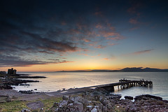 IMG_1340_adj (md93) Tags: largs portencross sunset castle clyde scotland