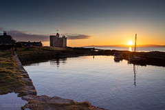 IMG_1318_adj (md93) Tags: largs portencross sunset castle clyde scotland