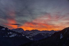 The last rays of this decade (PeterThoeny) Tags: schuders schiers switzerland grison graubünden alps swissalps calanda hometown mountain sunset cloud cloudy sky snow winter day dusk bluehour outdoor serene sony sonya6000 a6000 selp1650 3xp raw photomatix hdr qualityhdr qualityhdrphotography fav100