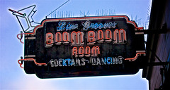 Live Grooves at the BOOM BOOM ROOM ... (sswj) Tags: livegrooves boomboomroom filmoredistrict sanfrancisco northerncalifornia nightclub jazzclub historicclub availablelight existinglight naturallight leicadl4 dlux4 viewfullscreen composition signage oldsign florescentsign scottstewartjohnson abstractreality cocktails dancing signs