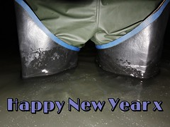 Happy 2020 (essex_mud_explorer) Tags: 2020 happynewyear newyear celebration waders uniroyal uniroyalcentury thighboots thighwaders wading water wadingthroughwater wadinginwater deep deepwater rainwear raingear bibandbraces bib rainbib waterproof protected