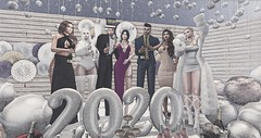 Happy New Year! (Decorizing (Picky)) Tags: happynewyear champagne toast cheers blog mesh sl chezmoi mudhoney party wishes booth 2020 pose friends