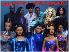 Happy New Year to all my Flickr friends!!! (FashionDragon) Tags: africanamerican adelemakeda nadjarhymes dominiquemakeda ladyaureliagrey tobiasalsford poppyparker dariusreid blackbarbie fashionroyalty nuface fashiondoll designerdoll jessyayala davidbuttery byronlars jasonwu stephenburrows bobmackie integritytoys blackdoll