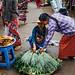 Woman Buying Herbs, Chauk Myanmar