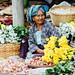 Elderly Flower Vendor, Chauk Myanmar