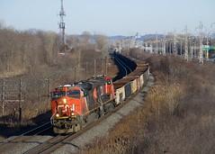 CN 321 (Michael Berry Railfan) Tags: beaconsfield train freighttrain quebec ge generalelectric cn canadiannational kingstonsub cnx321 cn2310 cn2234 es44dc gevo