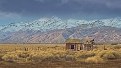 Abandoned Shack Mountains 8946 A (jim.choate59) Tags: jchoate on1pics shack oncewashome abandoned mountains decay ruraldecay rural desert cantilcalifornia landscape