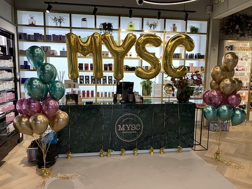 Folieballon Letters MYSC Parfumerie Rhoon