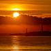 Suns up for 2020 Over Aberdeen Lighthouse & Torry Battery.