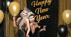 Happy New Year 2020 (babydollie whitfield) Tags: second life firestorm secondlife sparkle newyear 2020 friends balloons champagne confetti gold celebration party friendship