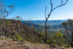 Farm in the Valley (armct) Tags: oreillys rainforest farm plateau lamingtonplateau range valley smoke bushfire ridge australia queensland borderranges afternoon sunlit escarpment edge