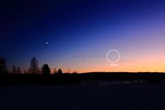 Venus and Moon_2019_12_31_0002 (FarmerJohnn) Tags: moon venus kuu sunset auringonlasku alkutalvi syystalvi earlywinter december joulukuu canonef1635lii28usm canoneos5dmarkiii canon suomi finland valkola anttospohja juhanianttonen