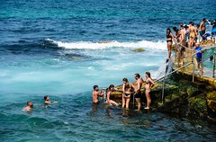 New Year's Day is very hot in Sydney (tonyg1494) Tags: australia newsouthwales bronte brontebaths tonygong photography outside beach water people pool sydney jubilance flickrfriday