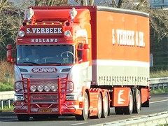 Scania R-series highline from Verbeek Holland. (capelleaandenijssel) Tags: 96bft6 truck trailer lorry camion lkw netherlands nl