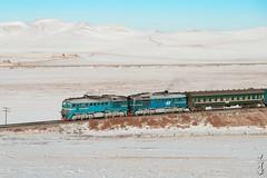 Old locomotive 2M62MM-041... (N.Batkhurel) Tags: season sky snow winter railway railfan railroad trains trainspotting transport passengertrain diesellocomotive 2m62mm ubtz ulaanbaatar ngc nikon nikondf nikkor 70200mm mongolia monrailpic
