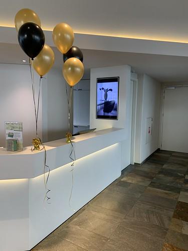 Tafeldecoratie 3ballonnen Mainport Intell Hotel Rotterdam