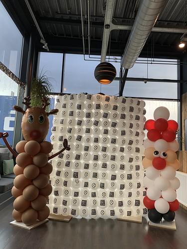 Ballonpilaar Breed Kerst Rudolf Kerstman Watertuin Spijkenisse
