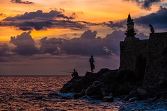 We Took Time To See The Sun (Anna Kwa) Tags: sunset silhouettes batubolongbeach purabatubolong batubolongtemple cliff senggigi lombok indonesia annakwa nikon d750 7002000mmf28 my forgotten dreams lost time always seeing heart soul throughmylens life journey fate destiny travel world hollowcoves whenwewereyoung