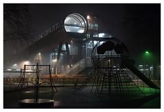 Hilversum Noord (jmvanelk) Tags: hilversum night nikond610 nikkor1450mm playground hometownhilversum railwaystation mediapark