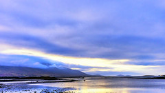 The last rays of light in 2019 (Frank Fullard) Tags: frankfullard fullard landscape golden blue sun mountain croaghpatrick thereek clewbay clareisland 2019 2020 happynewyear newyear mayo sea atlantic ocean irish ireland westport